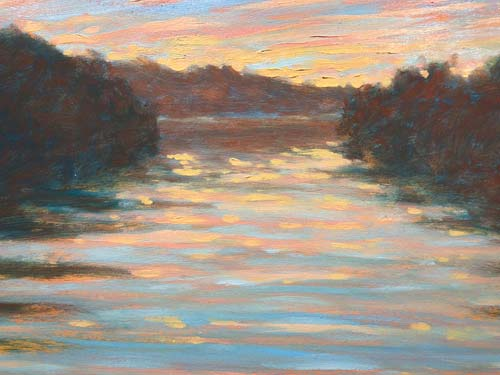 SUNRISE ON THE RIVER