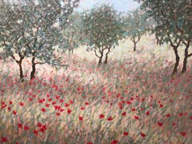 OLIVES AND POPPIES - click to view larger image...