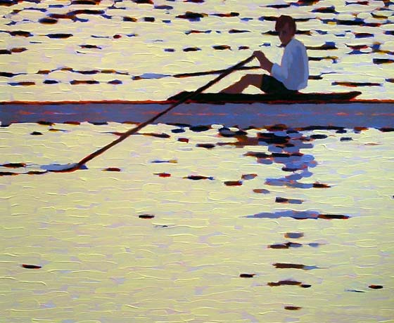 ROWING IN THE SUNSET